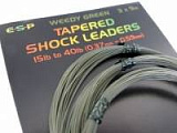 ESP Green Tapered Leaders Green 15-40 lb - конусный шок лидер