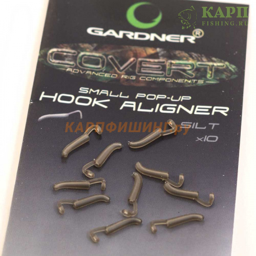 Удлинитель крючка GARDNER SMALL Pop Up Hook Aligner Rig №8-12 С-Thru Black/Silt