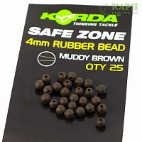 Бусина KORDA Rubber Bead Muddy 4mm BROWN