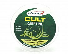 Шок-лидер конусный Climax CULT Tap.Shock Leader 5x15m 0,28-0,58mm /12-40lb