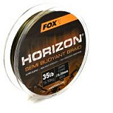 Fox Horizon® Semi Buoyant Braid - Camo Braid 0.20/35lb x300m - Плетеная леска