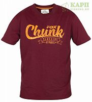 Футболка FOX CHUNK™ T Shirt - MEDIUM Burgundy/Orange