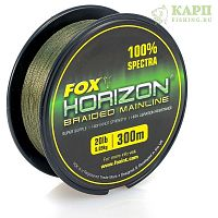 Fox Horizon Braid Mainline 20lb x 300m - леска плетеная