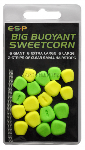 Плавающая кукуруза ESP BIG Buoyant Sweetcorn GREEN/ YELLOW фото 2