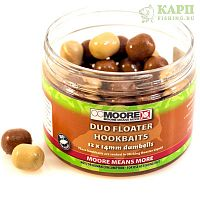Бойлы в дипе CC Moore Duo Floater Hookbaits 12x14mm | Палтус