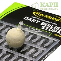 Стопора для быстрой фиксации бойлов FUN FISHING Dart Boilie Stop CLEAR