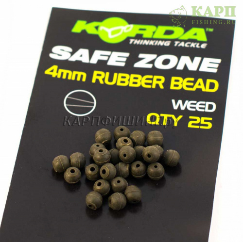 Бусина KORDA Rubber Bead Muddy 4mm GREEN