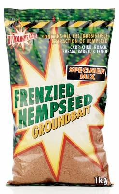 Прикормка Dynamite Baits Frenzied Hempseed Groundbait Specimen Mix 1kg фото 2