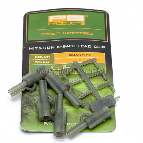Безопасные клипсы PB Products Hit & Run X-Safe Leadclip Weed