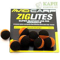 Шарик плавающий AVID CARP ZIG LITE 10mm Black/Orange