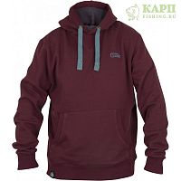 Толстовка с капюшоном FOX CHUNK™ Ribbed Hoody - MEDIUM Burgundy/Orange