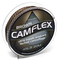 Лидкор GARDNER CamFlex Leadcore 45lb 20m Brown