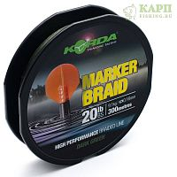 Korda Marker Braid 300m 20lb Dark Green - Шнур плетеный для маркера