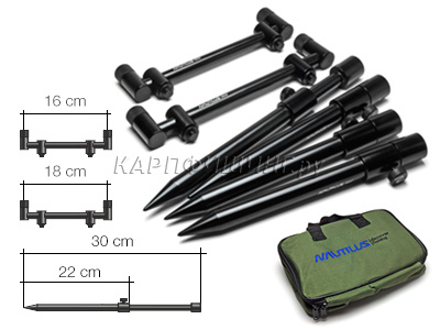 Комплект снэг-баров со стойками Nauilus Blacktron Snagbar Mini Set 2 rods 18-20cm