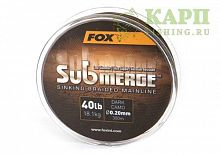 Fox Submerge™ Sinking Braided Mainline - Dark Camo 40lb/0.20mm 300m