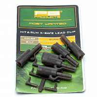 Безопасные клипсы PB Products Hit & Run X-Safe Leadclip Silt