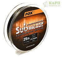 Fox Submerge™ Sinking Braided Mainline - Dark Camo 25lb/0.16mm 300m