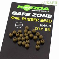 Бусина KORDA Rubber Bead 4mm Muddy KHAKI